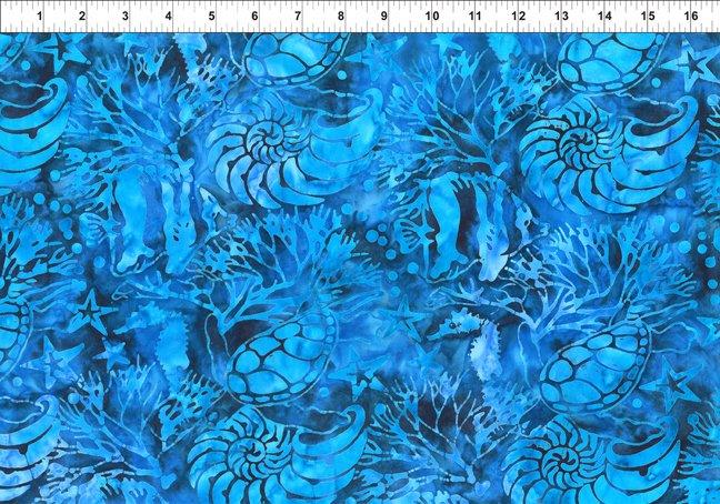 Floragraphix Batiks 1-GBC-5 Blue Jason Yenter