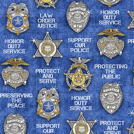 PROTECT & SERVE SHIELDS 26130 -B BLUE QT