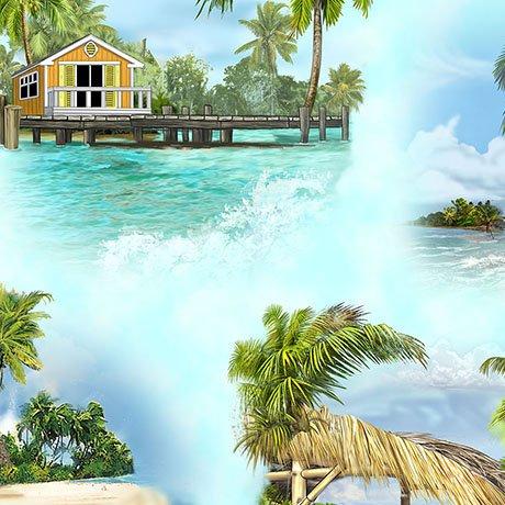 MARGARITAVILLE ISLAND VIGNETTES 26159 -B BLUE