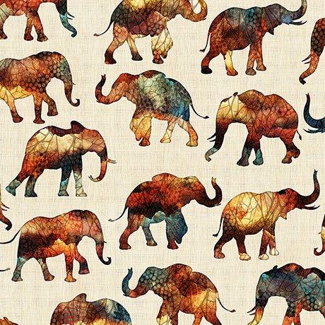 CARAVAN SMALL ELEPHANTS  Style 26184 -E  Color NATURAL