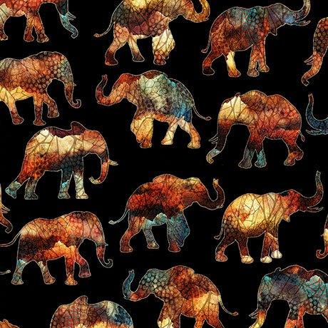 CARAVAN SMALL ELEPHANTS  Style 26184 -J  Color BLACK