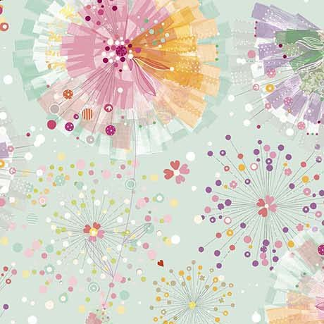 Confetti Blossoms and Fan Florals 26233-H Quilting Treasures