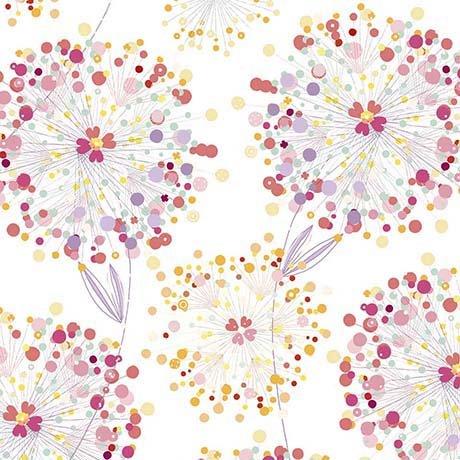 Confetti Blossoms White 26234-Z Quilting Treasures