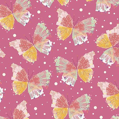Confetti Blossoms Butterflies 26235-P Quilting Treasures