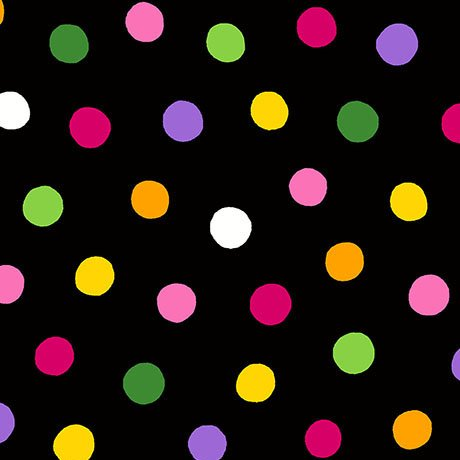 BROOKE DOTS  26321 -JX  BLACK/MULTI QT