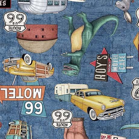 Motorin' Roadside Attractions 26353-B  Quilting Treasures