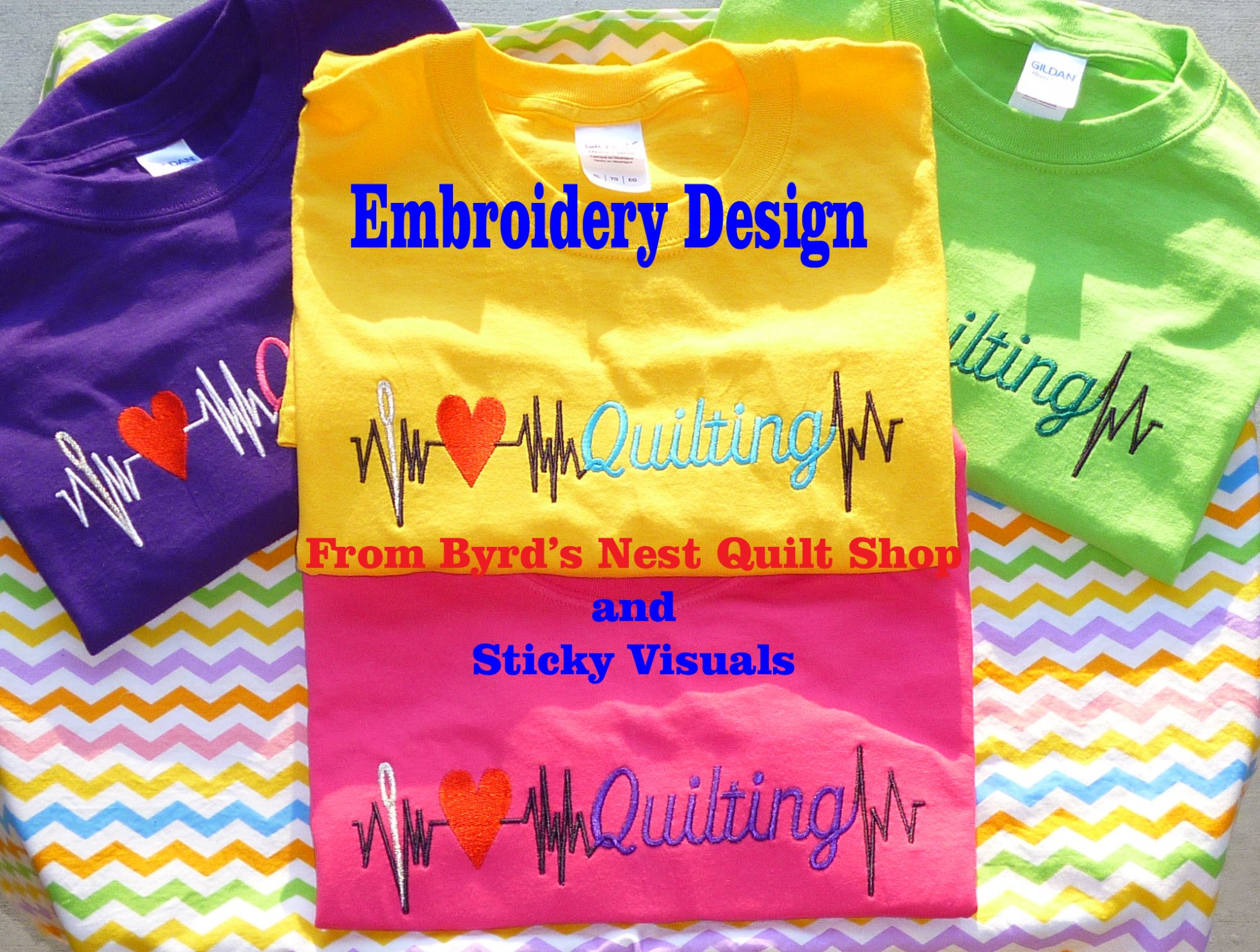 I Heart Quilting Embroidery Design