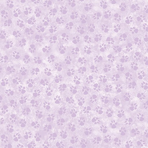 1909 Dog On It  Paw Prints Lt Purple   Benartex