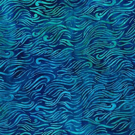 Totally Tropical Ocean Batik   Kaufman Fabrics