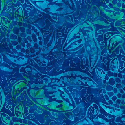 AMD-16124-257 CARIBBEAN Artisan Batiks Totally Tropical 5 Robert Kaufman