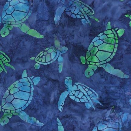 AMD-7330-4 BLUE Artisan Batiks: Totally Tropical