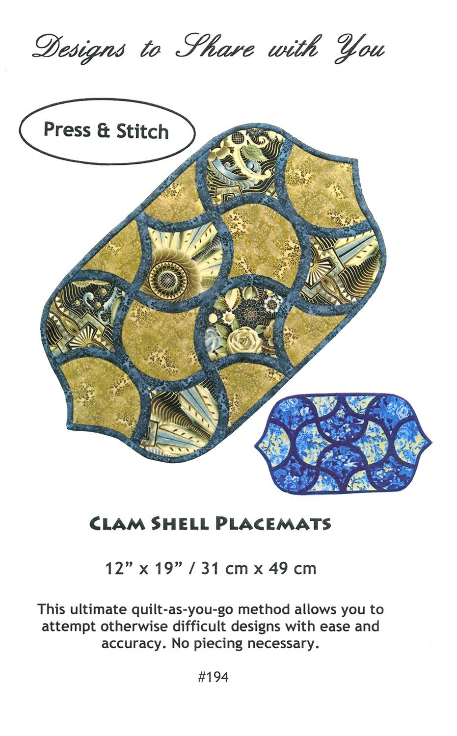 Clam Shell Placemats DSY194 Patten
