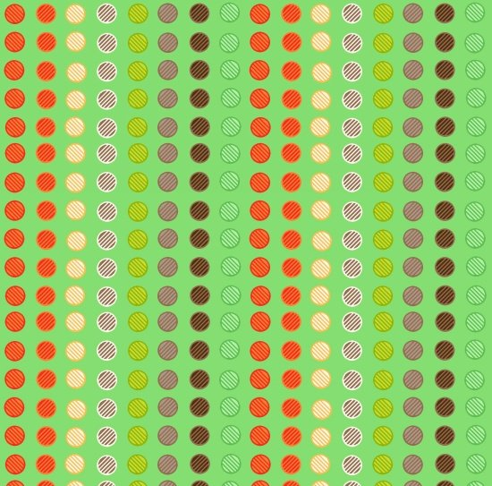 Clean Living Dots Green 6692-11