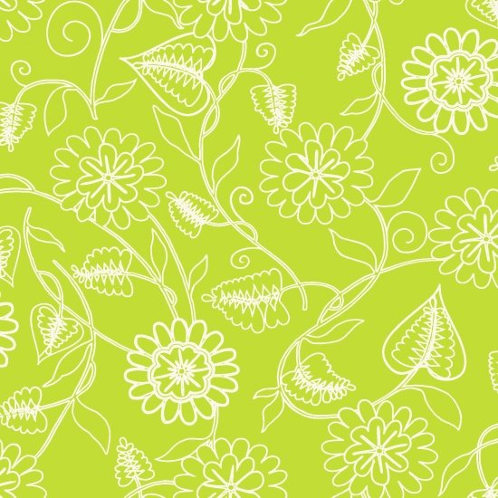 Clean Living Floral Green 6693-66