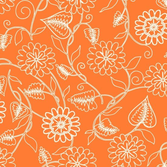 Clean Living Floral Orange 6693-30