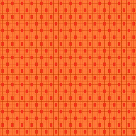 Clean Living Monotone Geo Orange 6689-30