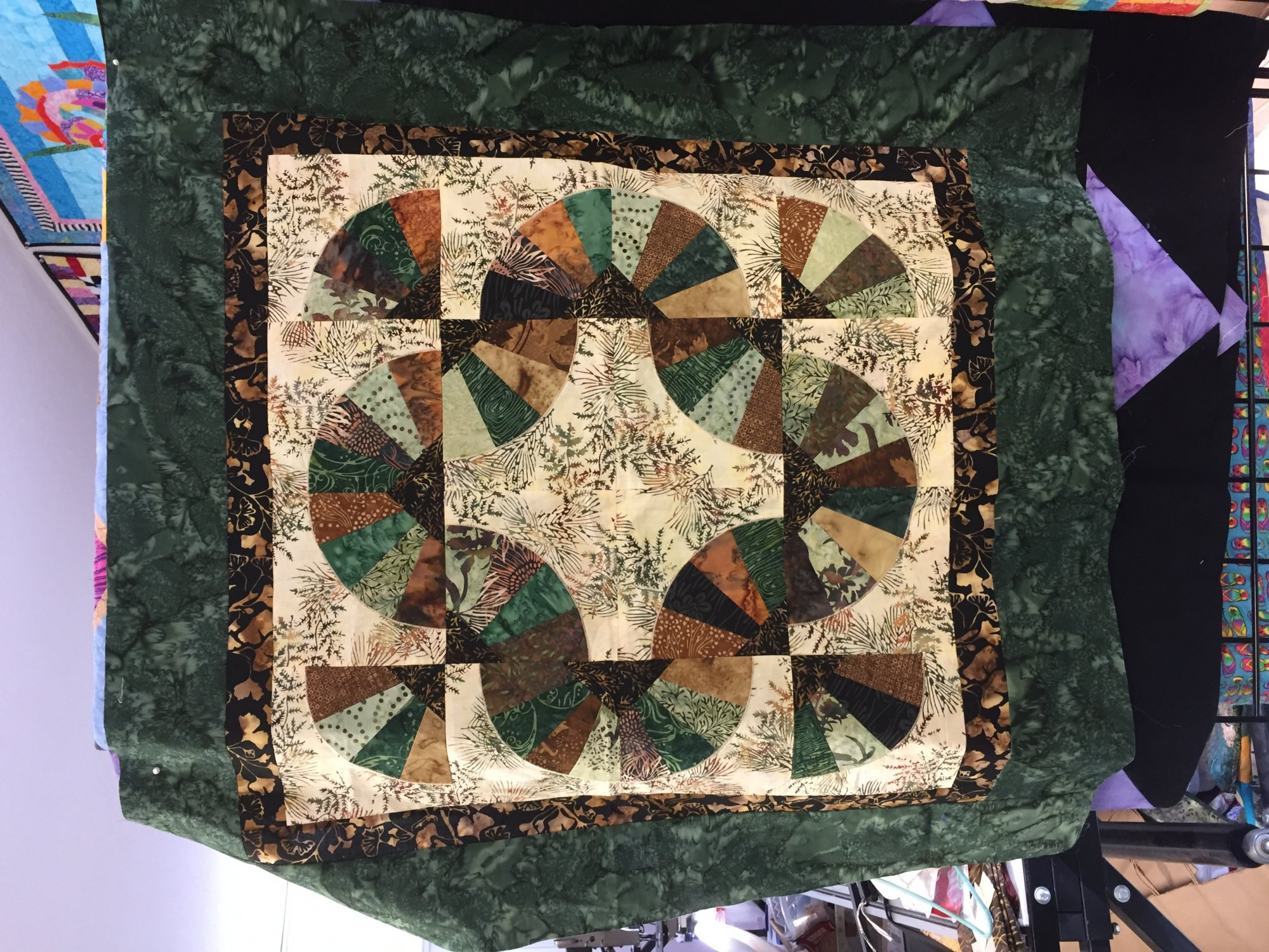Coffee Filter Fans Quilt Pattern by Debby Kratovil