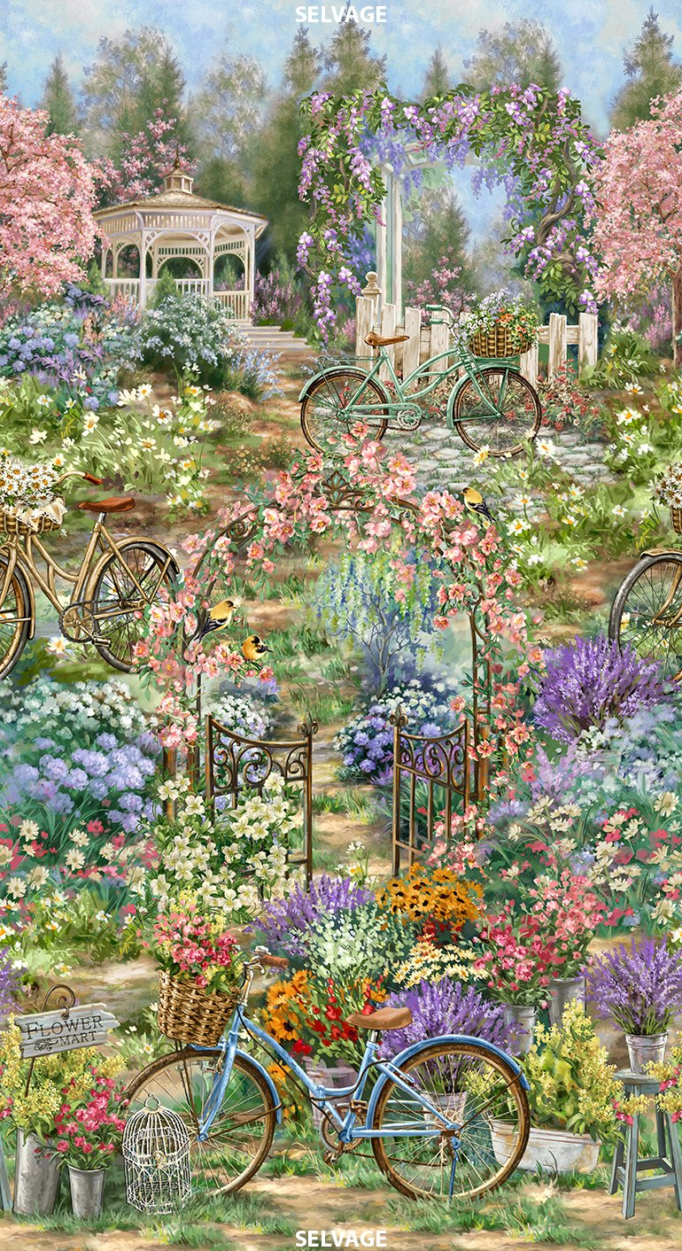 Dona C4832 Flower Garden Panel Timeless Treasure