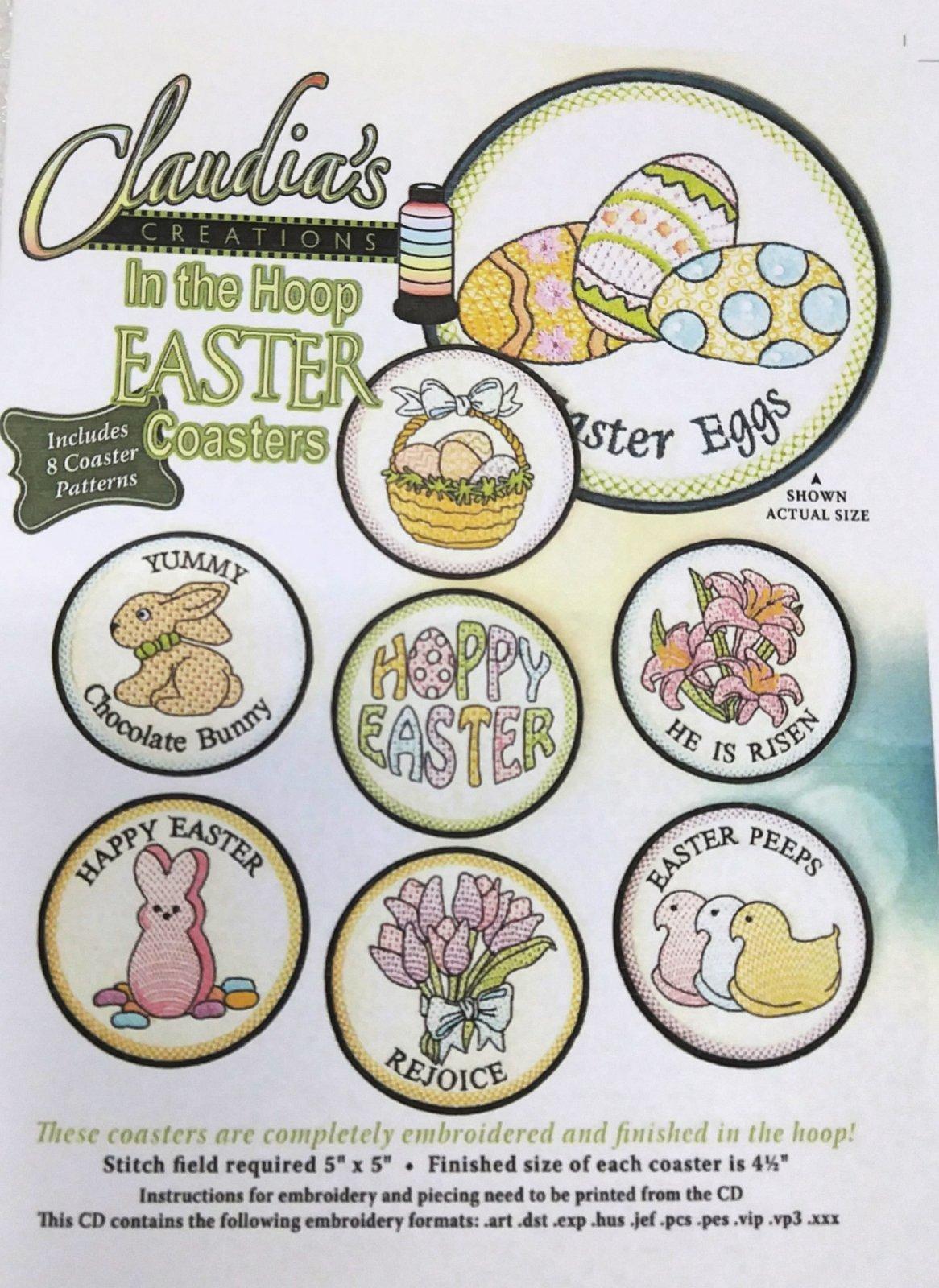 In The Hoop Easter Coasters