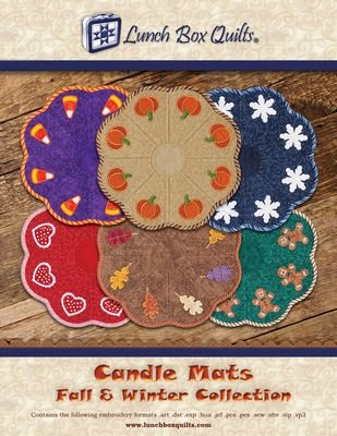 Candle Mats - Fall & Winter EMB CD ECCA1DD