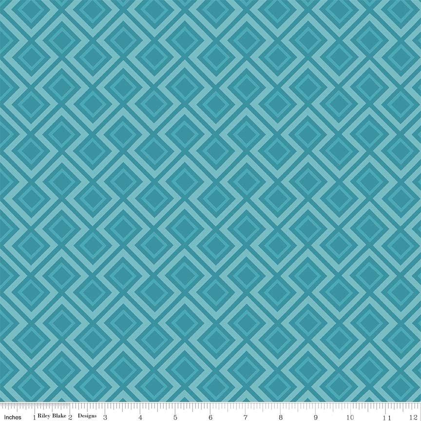 Fantine Geometric Blue C5474-BLUE