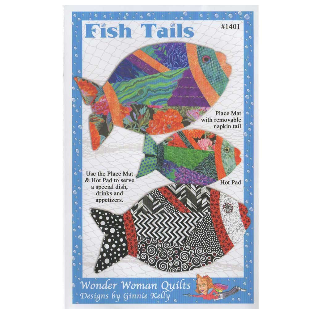 Fish Tails Pattern by Wonder Woman Quilts
