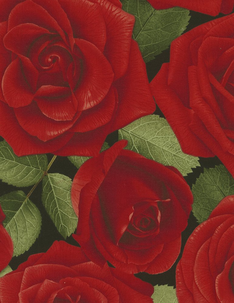 Large Allover Roses Glamour-C5045-Red  Timeless Treasures