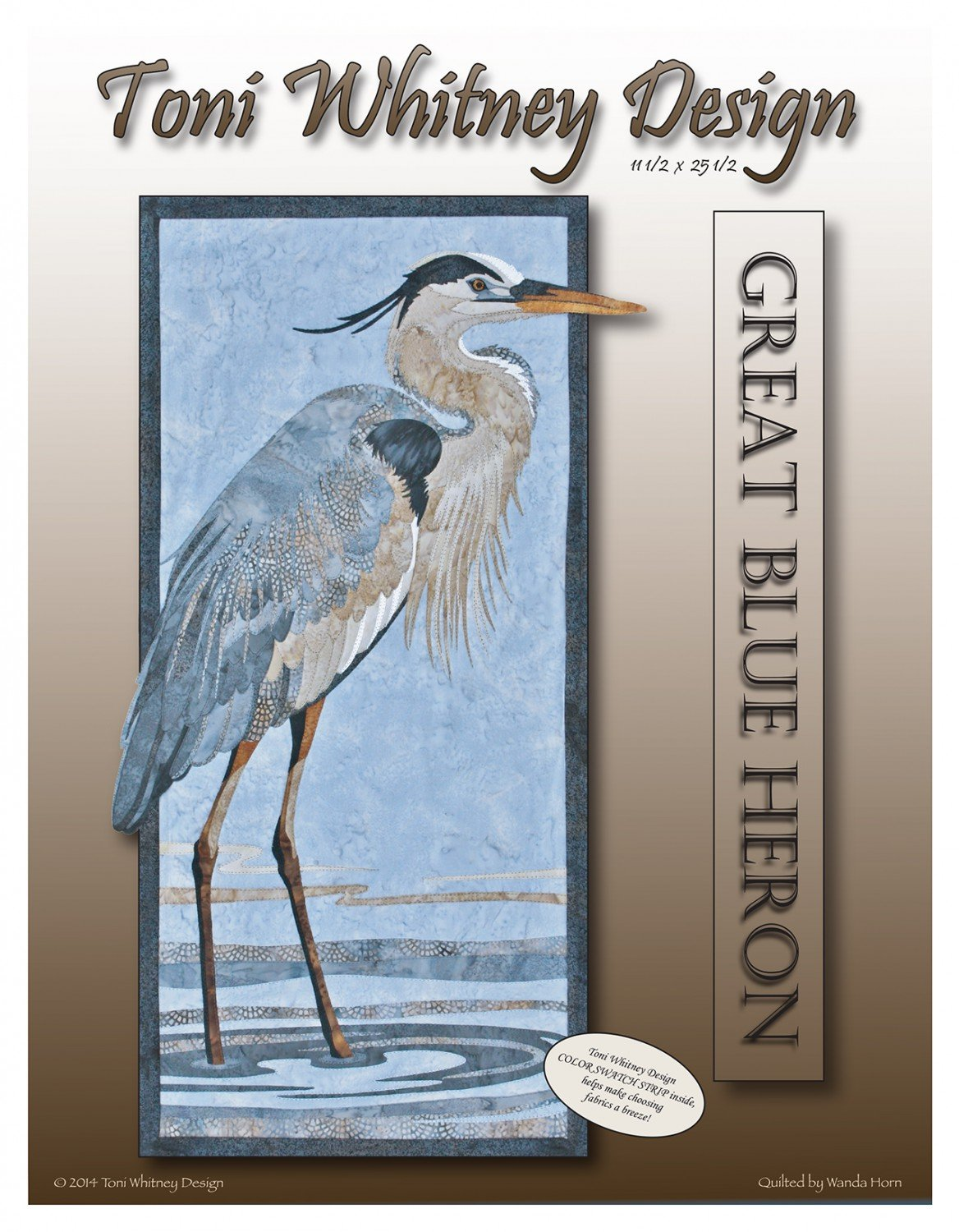 Great Blue Heron Applique Wall Hanging Pattern