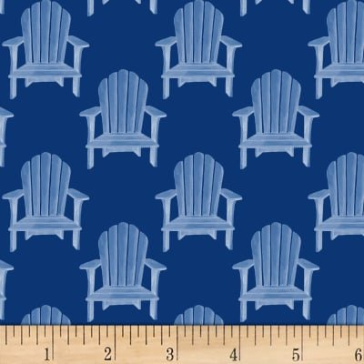 1910 Pand B Textiles Hot Dog Collection Blue Chairs