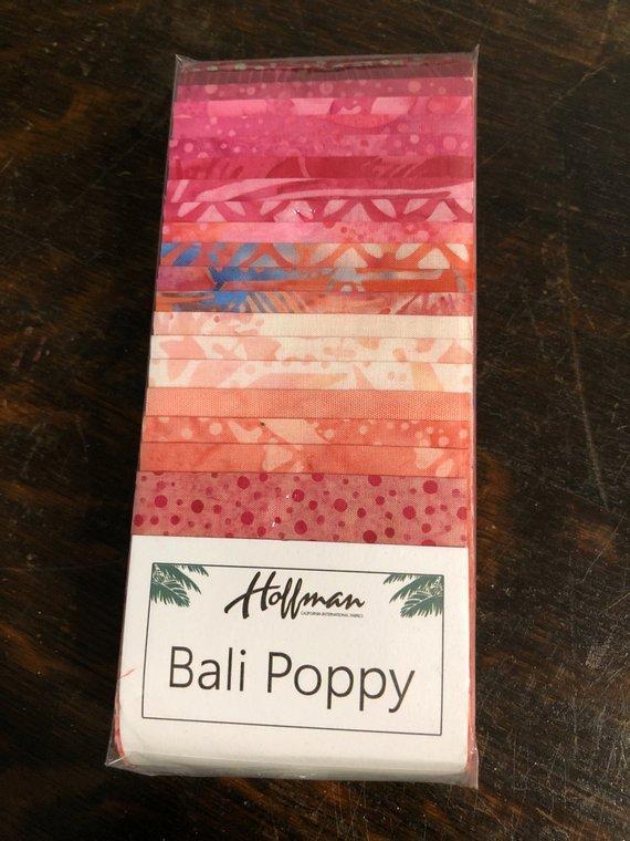 Batik Bali Poppy #448 Blossom 2 1/2 x 43/44 Strips  Hoffman