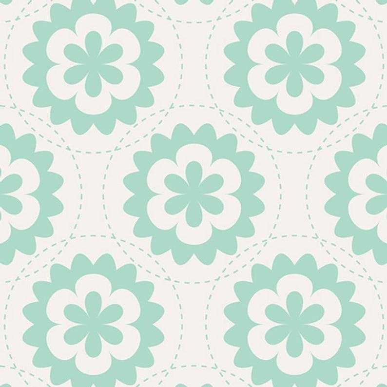 1806  Fractal Garland Mist  Art Gallery Fabrics