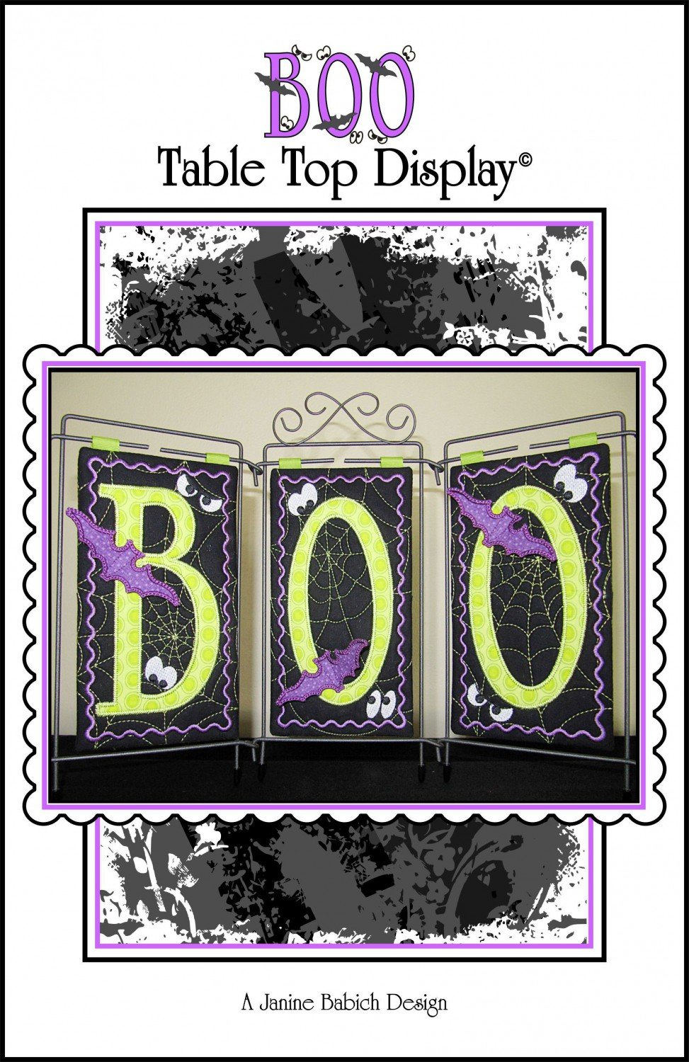 BOO Table Top Display JBDBOO EMB CD Pattern