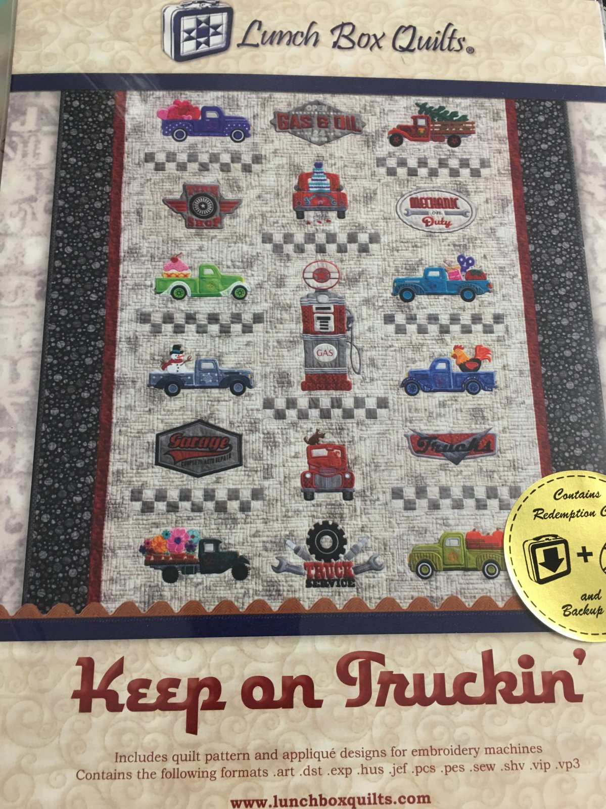 keep on truckin Lunch Box Quilts