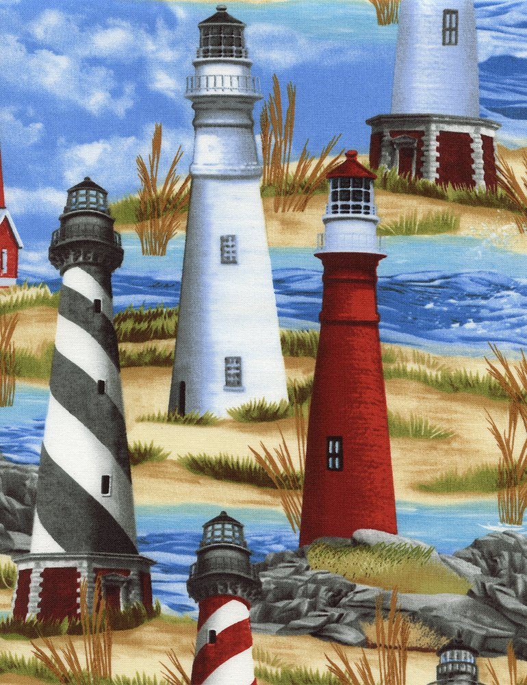 Michael-C1548-Blue Lighthouses Timeless Treasures