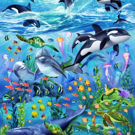 Sea Reef C6145 Panel - Timeless Treasures
