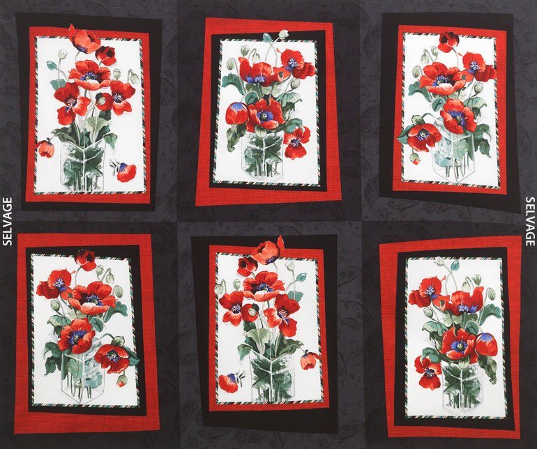 Michele C 4723 36 Panel Poppies