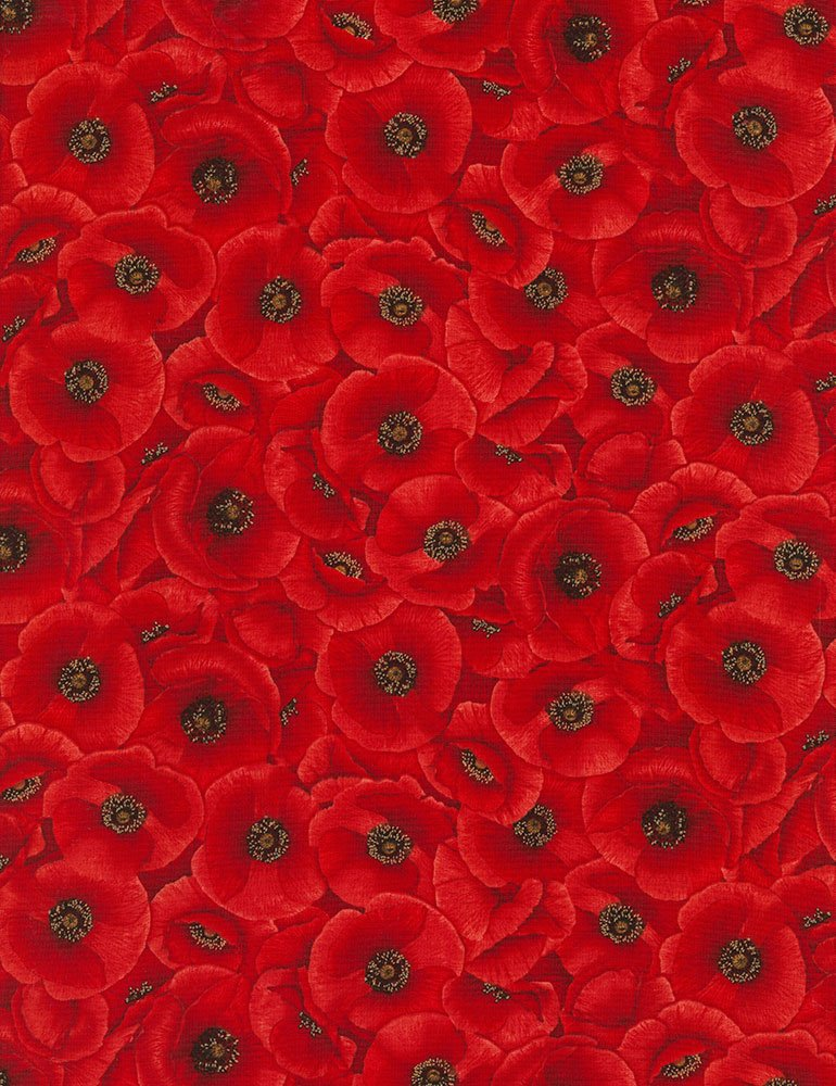 Packed Poppies Poppies-C5835-Red TT