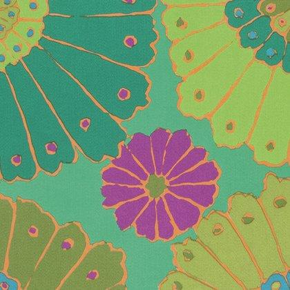 Kaffe Fassett Backing Fabric Carpet Green Item QBGP001.GREEN