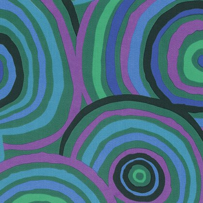 Kaffe Fassett Backing Fabric Circles Green QBGP002.GREEN