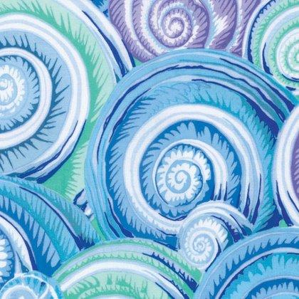 Spiral shells Kaffe Fasstt Skyblue PWP J073