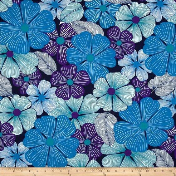 Surf n Sand Tropicals srk-14525-81 Turquoise Robert Kaufman