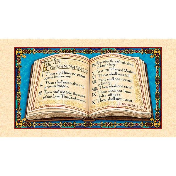 The Ten Commandments 1649_25755_X Quilting Treasures  Panel
