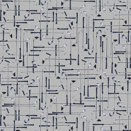 Blank Quilting Back Nine 1387-95 Gray Golf Clubs