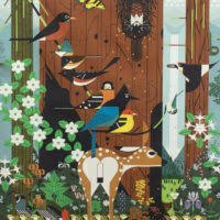 Birch Fabrics Charley Harper Sierra Range CH-159 Panel Organic