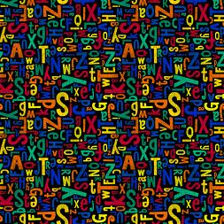 Riley Blake Colorfully Creative C5401 Multi Crayola Alphabet