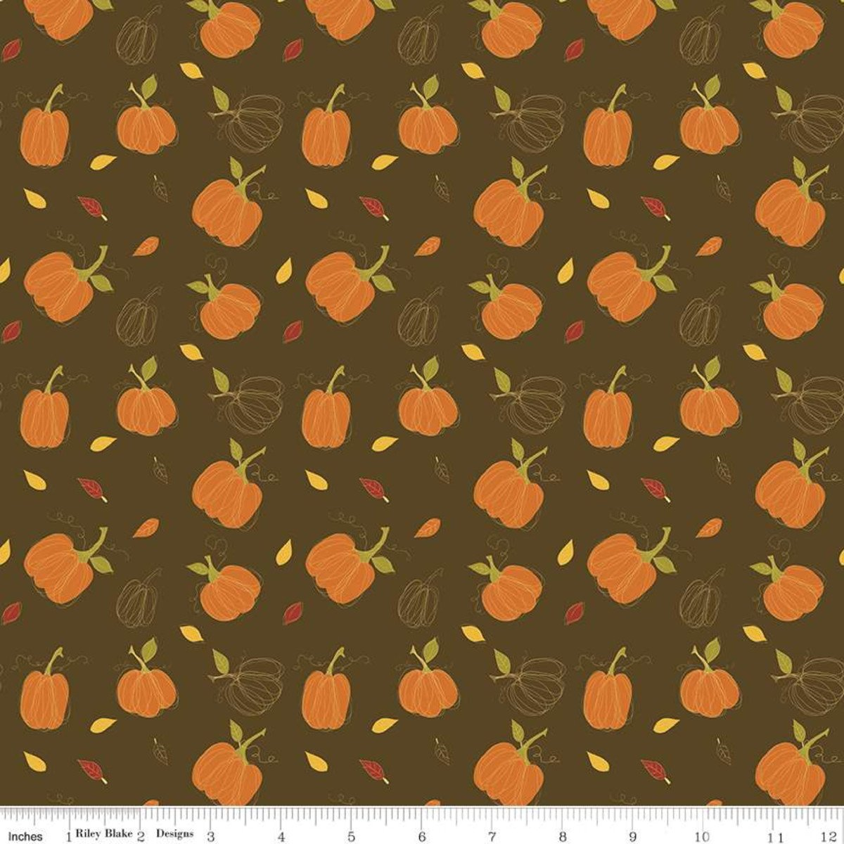 Riley Blake Adel In Autumn Main Chocolate C10820 Chocolate