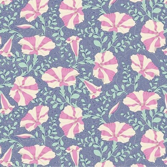 Tilda Garden Life  - Striped Petunia Blue TIL100316