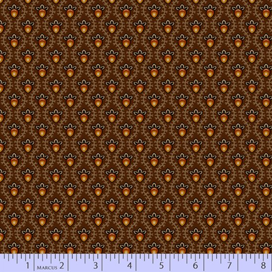 Cocoa - Teardrop Flower - Chocolate and Cheddar by Pam Buda - R17-0730-0113