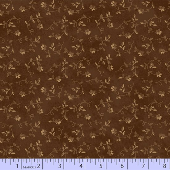 Cocoa - Twisting Flower - Chocolate and Cheddar by Pam Buda - R17-0734-0113