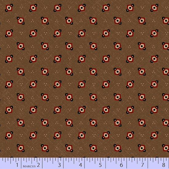 Cocoa - Hexie Diamonds - Chocolate and Cheddar by Pam Buda - R17-0736-0113
